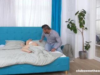 Teen Likes Waking Up Next To A Big Cock