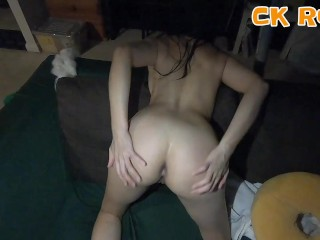 Amateur Teen Gets A Raw and Painful AssFuck For A Donut - CK Road - POV