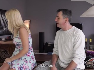 DADDY4K. Woman catches unfaithful husband fucking her slutty daughters