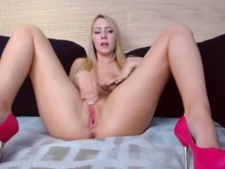 Big natural boobs blonde goddess huge dildo pussy fucking and fisting