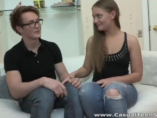 Casual Teen Sex - Olivia - Fucking in sexy glasses