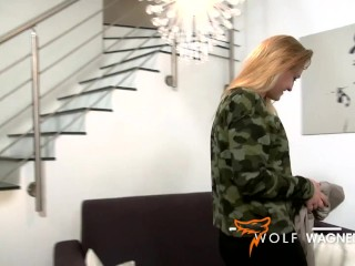 Cute Scarlett Scott gets taught a dick lesson! WOLF WAGNER