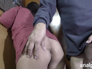 Huge cock fucks my ass and makes me scream with pleasure, it hurts and I love it