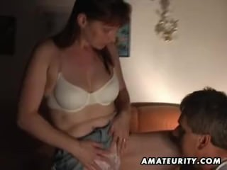 Redhead amateur wife full blowjob with cum