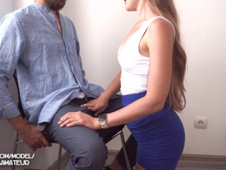 Interview in the Office with Young Secretary ended with Big Cum on Boobs 4K