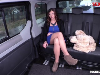 FuckedInTraffic - Bella Scaris Horny Czech Teen Rough Pussy Fuck In The Backseat With Driver