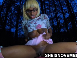 4k Msnovember Innocent Ebony Ass Walked To Woods And Fucked By Father Inlaw Where His Wife Will Never Find Out on Sheisnovemb