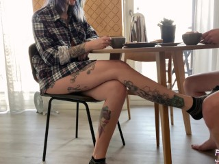 Young Housewife Loves Morning Sex - Cum in My Coffee