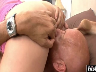 Amateur blonde is hungry for cock