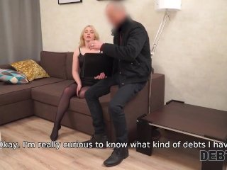 DEBT4k. Maria services lustful collector to get rid of her debts