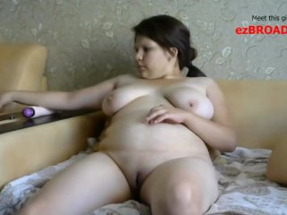 ezBROADS.com - Chubby MILF Digging In Her Pussy
