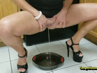 Housewife Takes a Piss Anywhere and On Anyone