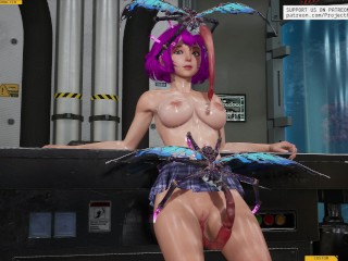 Insects and plants charge the girl [3D Hentai, 4K, 60FPS, Uncensored]