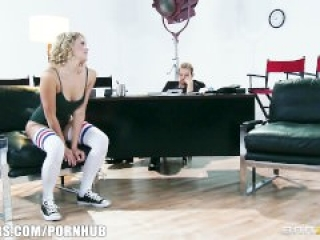 Flexible blond dancer Mia Malkova shows off her assets for a role