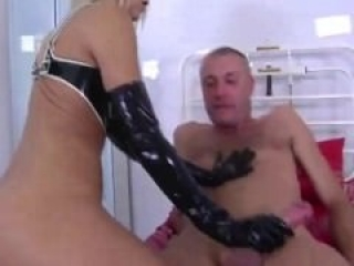 FEMDOM petite english domina pleasing sub with all her holes