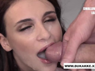 Teeny Kat Rich goes for Cum Swallow Record - bukakke.xx