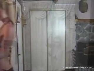 Real amateur housewife with big tits fucks her husband