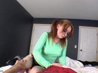 Horny Red Headed Step Sister Becomes Cock Slut for Brother (Two Videos)