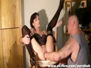 Extreme housewife deep fisted in her bucket pussy