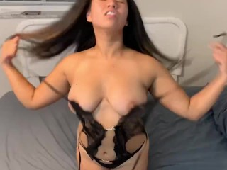 HOT YOUNG CAMBODIAN TEEN PLAYS W HERSELF & GETS RAILED