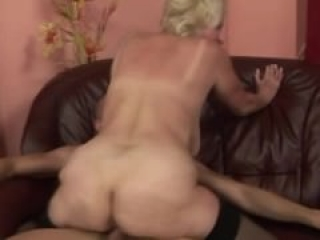 GILF granny amateur fucked by young stud
