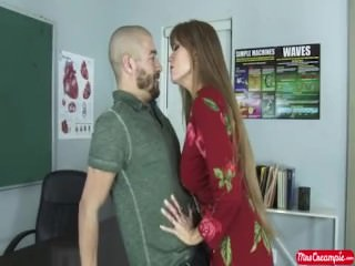 Teacher Darla Crane gets her holes drilled and filled -- Mrs. Creampie