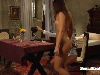 Deep Merciless Strapon Fuck For Young Lesbian Slaves