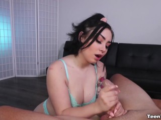 Teen Babe Jerks Off A Cock And Makes It Erupt