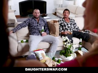 DaughterSwap - Sexy Teens Fuck Each Others Dads After A Makeover