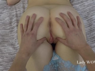 FULL POV Teen gets Creampie - amateur couple Lady WOW