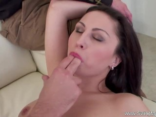 Lovely Wife Swinging With Other Man