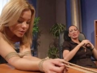 LEZDOM naughty sub spanked by domina