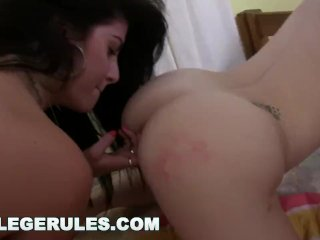 COLLEGE RULES - Incredible Teen Orgy In The College Dorms