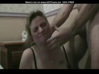 Amateur Mature Gets Throat Fucked