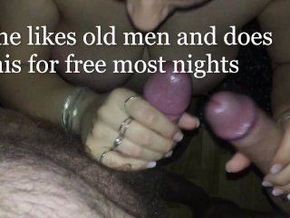 Two Older Men Get Their Dicks Stroked, Sucked & Swallowed by Teen
