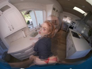 VR BANGES Hot Redhead Pinup Lady Has Unexpected Fuck Visit VR Porn