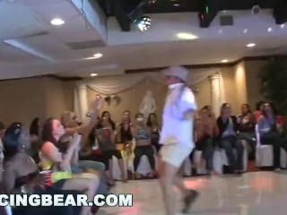 DANCINGBEAR - Group Of Big Dick Male Strippers Shovin' Sausage In They Face