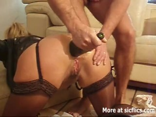 FRENCH WIFE ANAL FISTING AND BOTTLE FUCK
