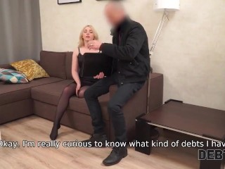 DEBT4k. Only chance not to get to jail is having sex with collector