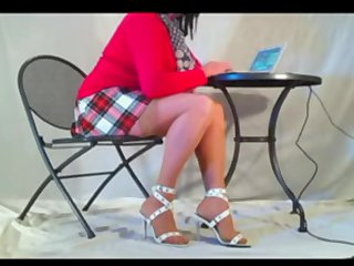 Legs Red And White Pleated Tartan Skirt