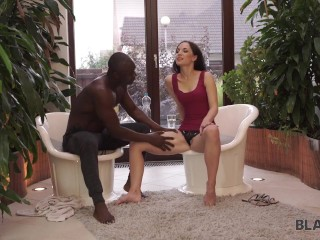 BLACK4K. Kristy cant believe black male takes care of her pale twat