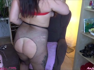 Painful anal slut workout for curvy girlfriend !!