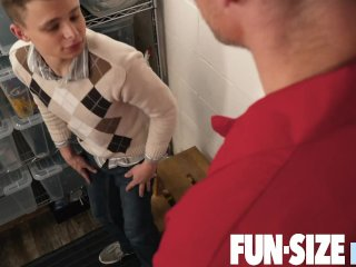 FunSizeBoys - Hung janitor daddy fucks young petite teen in his office