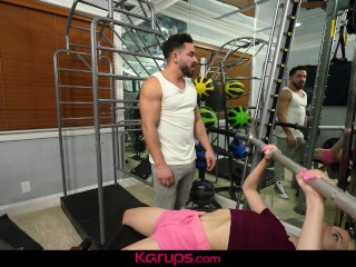 Karups - Small Breasted Teen Jayden Black Fucked By Trainer In The Gym