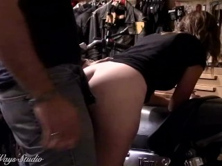 Hot Biker Babe Takes a Hard Ass Fucking Bent Over My Motorcycle Lavender Joy and Wicked