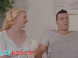Family Hook Ups - A Hard Fuck & A Nice Warm Creampie For Stepdaughter Athena Rayne