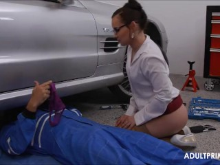 Housewife Paying The New Car Repair by Adultprime