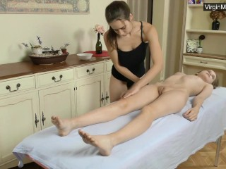 Sexy naked lesbian first time massage for Abel