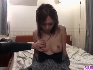 Naked Rina puts a lot of dick in her Japanese snatch - More at Slurpjp com