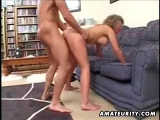 Mature amateur wife home fuck with cumshot